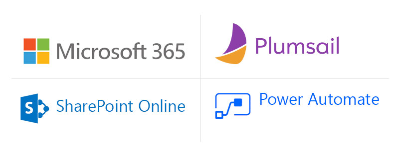 Microsoft 365, Plumsail, Sharepoint Online, Power Automate