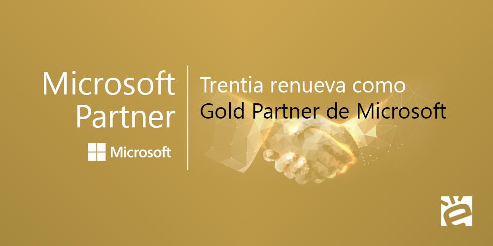 Trentia renueva como Microsoft Gold Partner