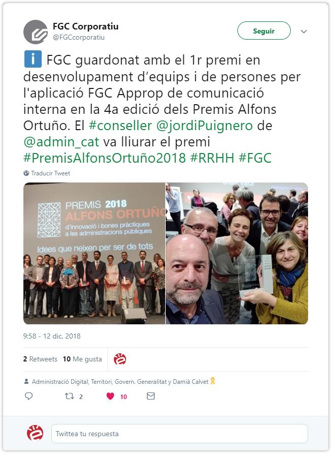 La app Approp gana el premio Alfons Ortuño!
